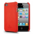 SGP iPhone 4 Nature Just Leather Case Series [Nature Red] (SGP07982)